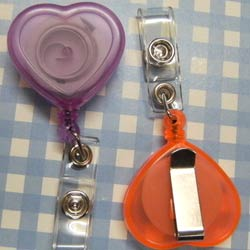 heart shaped badge reel