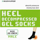 Heel Moisture And Pressure Reducing Socks ( Compression Socks)