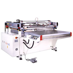 high precision table sliding screen printing machine