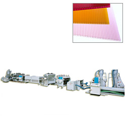 pp polyproyplene hollow profile sheet extrusion lines