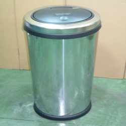 horizontal oval touch bin