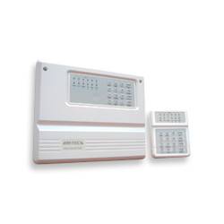 intruder alarm control panel and keypad