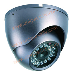 ir armed dome camera with 24pcs ir leds