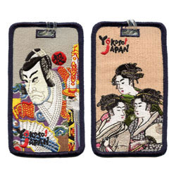 japanese painting embroidered luggage tags