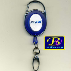karabiner retractable badge reel