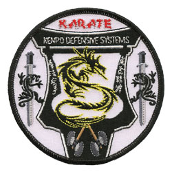 karate embroidered patch