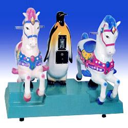 kiddie rides pengiun&twin horse