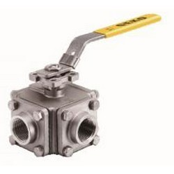 3-WAY4-WAY-BALL-VALVE-SCREWED-END