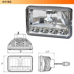 4 x 6 LED Head Light Hi Low beam
