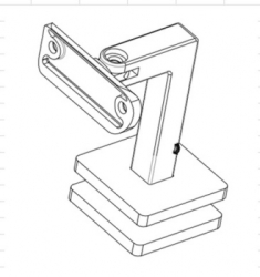 Adjustable-Saddle-Square-Handrail-Bracket