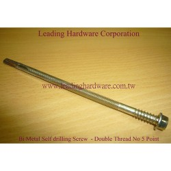 Bi-Metal-Double-Thread-Screw