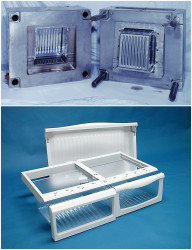 Fridge-Shelving,-Drawer-Mold