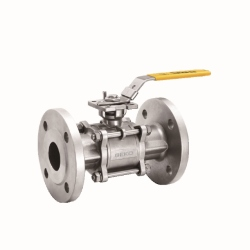 Full-Port-3-Pieces-Flange-End-Ball-Valve