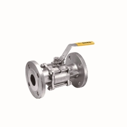 Full-Port-Three-piece-Manual-Flange-End-Ball-Valve