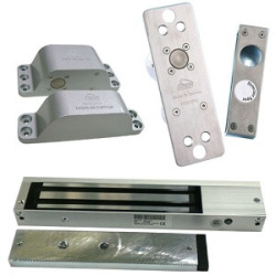 Magnetic Lock And Exit Button For Door