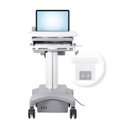 Medical-Laptop-Cart-with-power-system-AC-120V