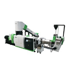 Double Stage Cutter Compactor Recycling Pelletizing Line