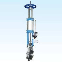 PNEUMATIC-ADD-MANUAL-TYPE-KNIFE-GATE-VALVE