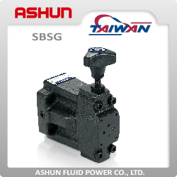 SBSG Low Noise Type Solenoid Controlled Relief Hydraulic Valve