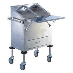 Stainless-steel-patient-card-medication-cart