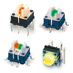 TP615-Series Snap-in Illuminated Tactile Switches