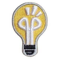 3D Puff Embroidered Lightbulb