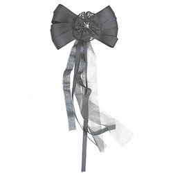lace ribbon bow brooch