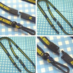 metal free silk screen lanyard