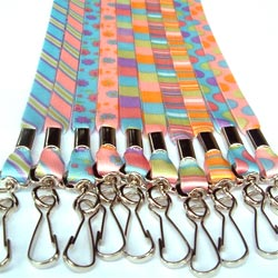 promotional dye sublimated lanyards