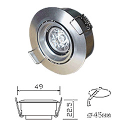 led 1w cabinet light
