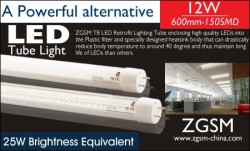 led fluorescents tube with t8