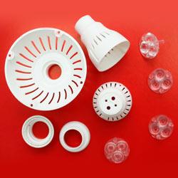 led plastic components