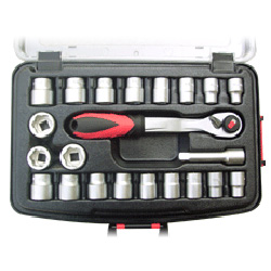led ratchet handle and twist socket set