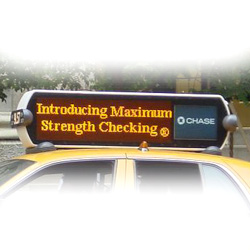 led taxi message billboards