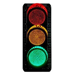 led traffic lights - red yellow green - round