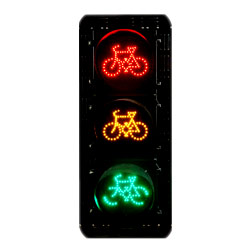 led traffic signals with 3 bike signals