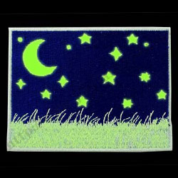luminous embroidery patches