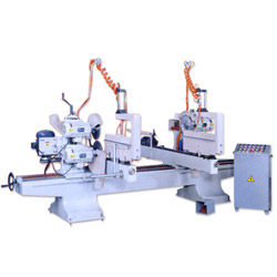 double end miter saw with moulding head machine