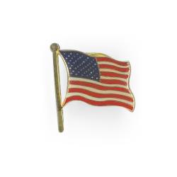 Metal Lapel Pins (Waving American Flag )