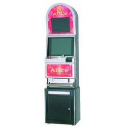 metal slot machine double screen cabinet