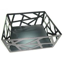 metal square fruit basket