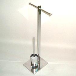 metal tube toilet brush holder