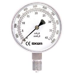 micro pressure gauge bottom mounting