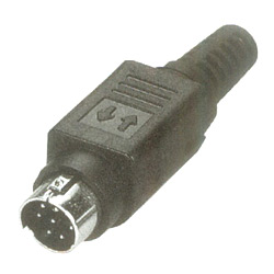 mini din assembly plug solder quick lock type