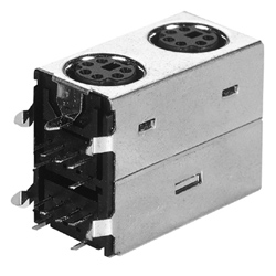 mini din vertical dual socket
