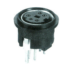 mini din vertical socket type