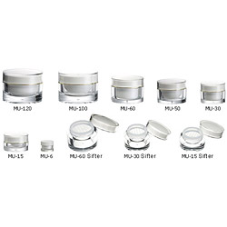mu series cream jar
