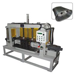 muffler horizontal double flange forming machines