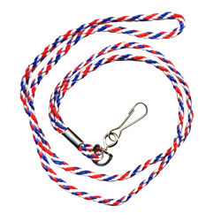 multi color cord lanyard