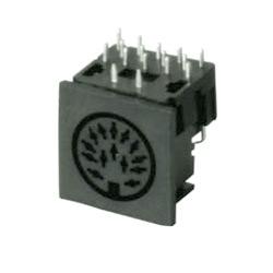multi pole horizontal socket pcb quick lock